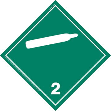International Division 2.2 Non-Flammable Gas Placard - Wordless
