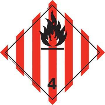 International Division 4.1 Flammable Solid Placard - Wordless