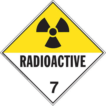 International Class 7 Radioactive Placard - Worded