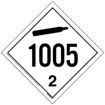 1005 Placard - International Division 2.2 Non-Flammable Gas