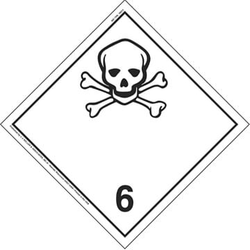 International Division 6.1 Toxic Substances Placard - Wordless