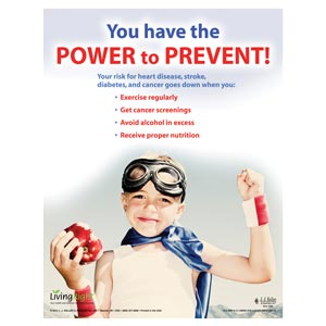 Prevention - Health & Wellness Awareness Poster - 'You Have the Power to Prevent'