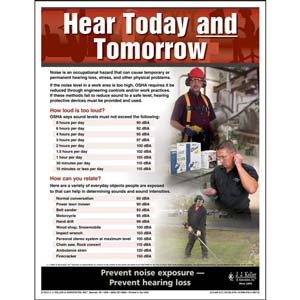 Hearing Protection - Workplace Safety Advisor Poster - 'Hear Today and Tomorrow'