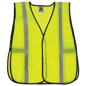 GloWear® Standard Mesh Safety Vest - Silver Reflective Stripes