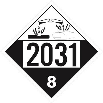 2031 Placard - Class 8 Corrosive