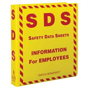Safety Data Sheet Binder - 1.5' Ring Capacity