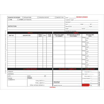 Vehicle Maintenance Forms
