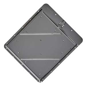 Stainless Steel Placard Holder w/Back Plate