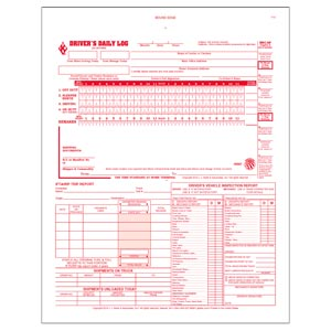 5-In-1 Driver's Daily Log Book, 2-Ply, w/Carbon, Book Format - Personalized