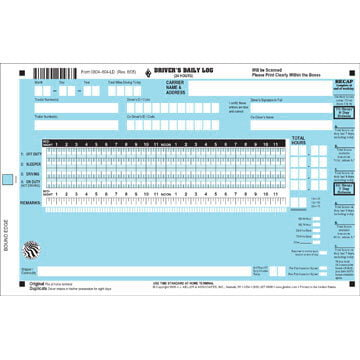 Scannable Driver's Daily Log Book - California & Texas Rule Set Logs, w/Recap - Personalized