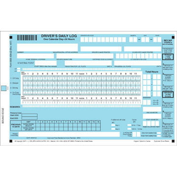 Scannable Driver's Daily Log Book - Canadian - Personalized