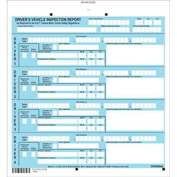 J. J. Keller Services Driver Vehicle Inspection Report - Personalized