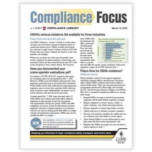 J. J. Keller® Compliance Focus