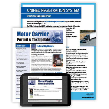Motor Carrier Permit & Tax Update