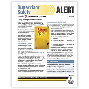 J. J. Keller® Supervisor Safety Alert