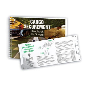 Cargo Securement Handbook for Drivers & Sliding Calculator Set