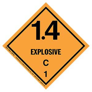 Explosives Label - Class 1, Division 1.4C - Paper