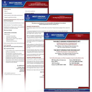 West Virginia & Federal Electronic Labor Law Poster Management Service