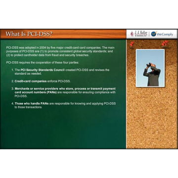 Payment Card Industry Data Security Standard (PCI-DSS) Compliance - Online Training Course