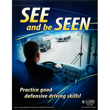 Motorcoach Defensive Driving Training Program - Awareness Poster