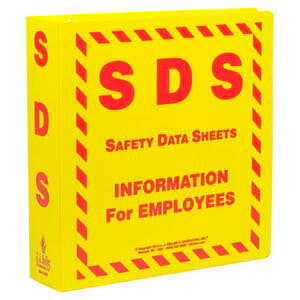 Safety Data Sheet Binder - 2.5' Ring Capacity