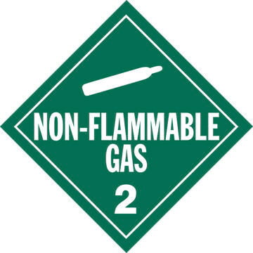Division 2.2 Non-Flammable Gas Placard - Worded