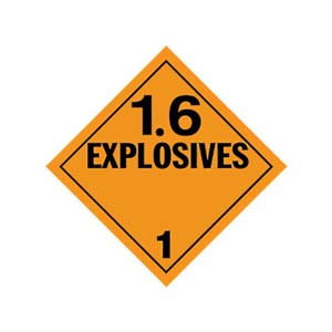 Explosives 1.6 Placard - Worded
