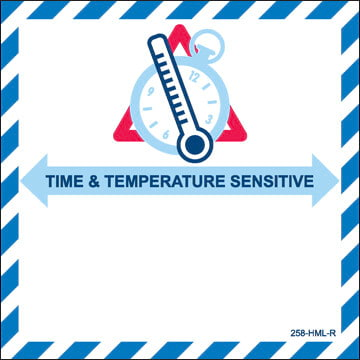 Time & Temperature Aircraft Package Marking