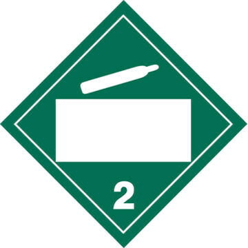 division 2.2 non-flammable gas placard - blank