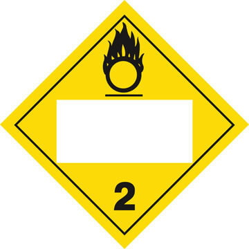 Division 2.2 Oxygen Placard - Blank