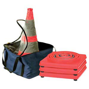 28' Collapsible LED Traffic Cone - 4-Pack