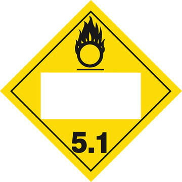Division 5.1 Oxidizer Placard - Blank