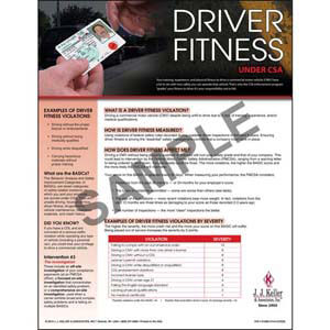 CSA Poster: Driver Fitness