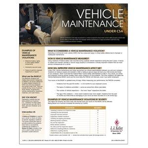 CSA Poster: Vehicle Maintenance