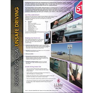 CSA Unsafe Driving Posters