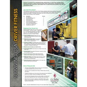 Surviving CSA: Driver Fitness Poster