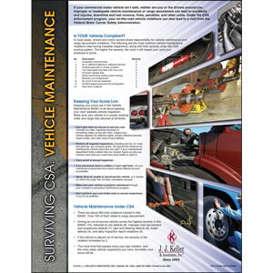 Surviving CSA: Vehicle Maintenance Poster