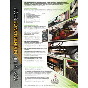 Surviving CSA in the Maintenance Shop Poster
