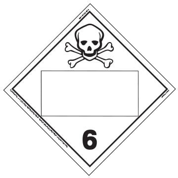 Division 6.1 Poison Placard - Blank