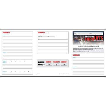 Forklift Hazard Perception Challenge - Video Scenario Answer Form