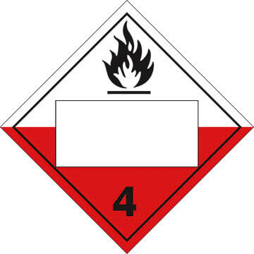 Division 4.2 Spontaneously Combustible Placard - Blank
