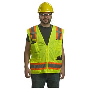 Type R Class 2 Two-Tone Surveyor Safety Vest by PIP
