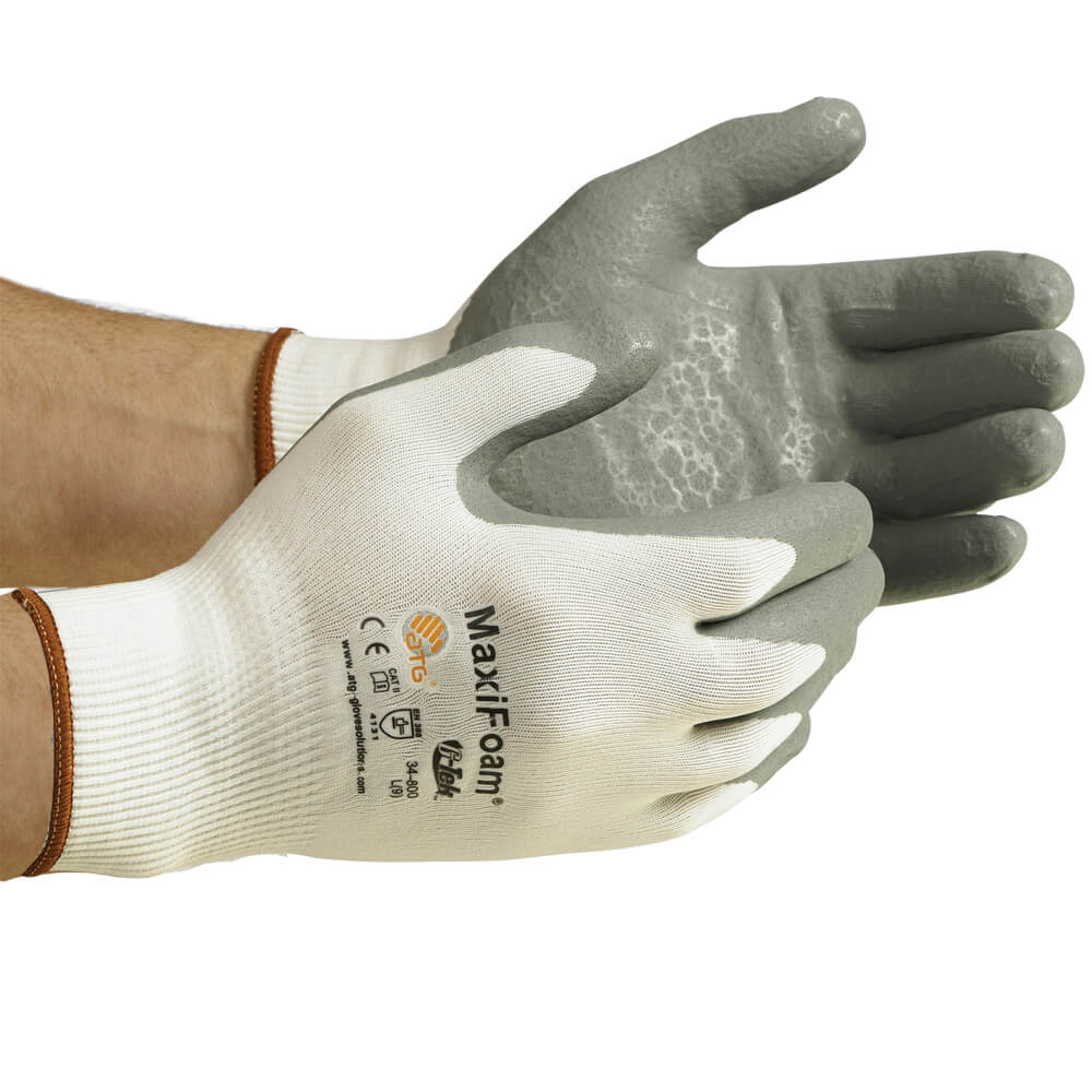 MaxiFoam® Flat-Dip Foam Nitrile Coated Seamless Knit Glove