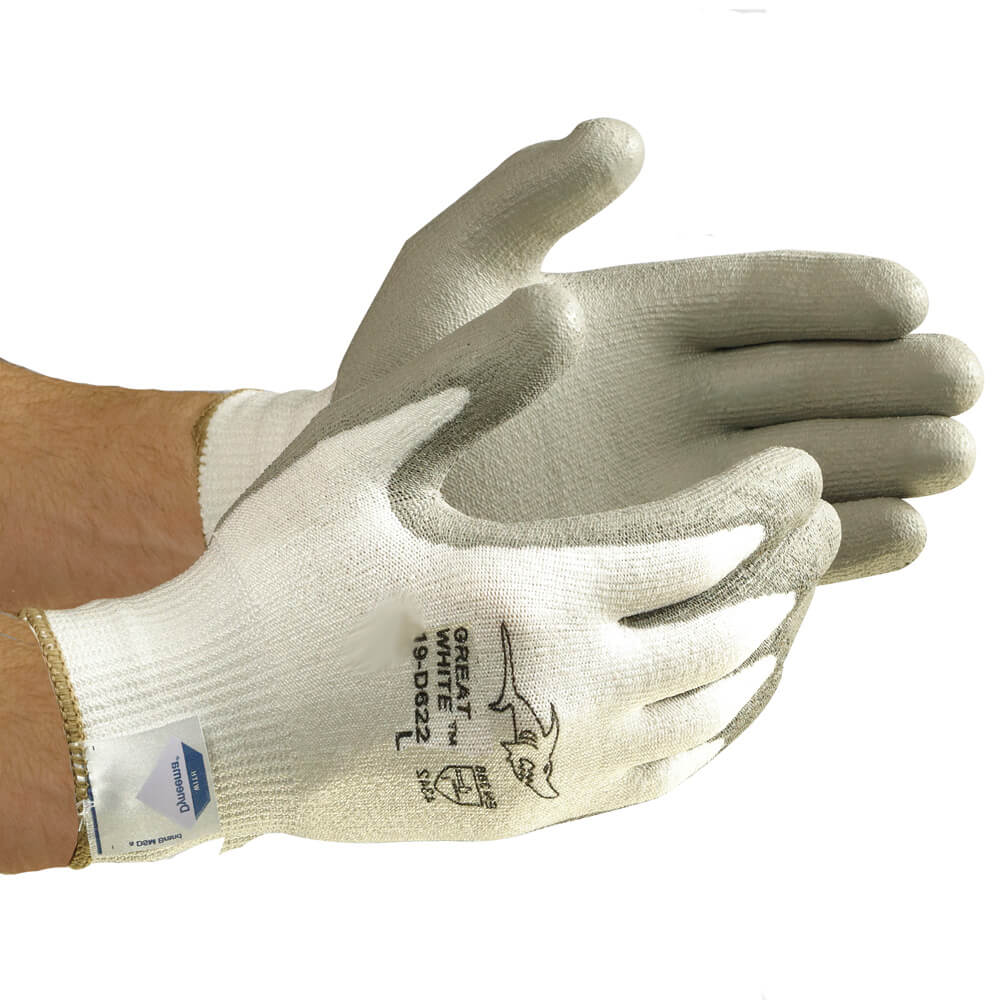 Great White™ Flat-Dip Polyurethane Coated Seamless Knit Dyneema® Glove