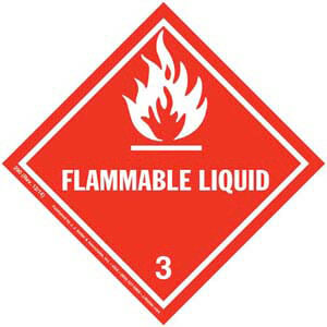 Hazardous Materials Labels - Class 3 -- Flammable Liquid - Paper, Roll