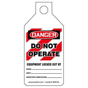 STOPOUT® Tab Tags - Danger Do Not Operate