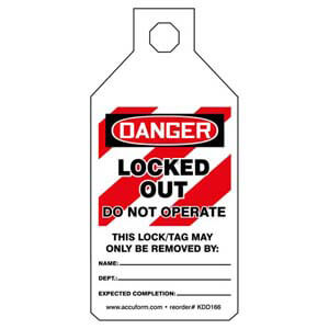 STOPOUT® Tab Tags - Danger Locked Out Do Not Operate