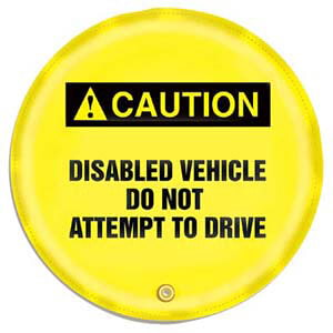 STOPOUT® Steering Wheel Message Cover - Caution Disabled Vehicle Do Not Attempt to Drive