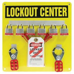 STOPOUT® Lockout Center - Aluminum Hanger Board, 6-Lock Cap