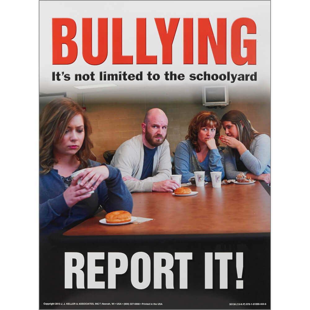 Workplace Bullying and Violence: Training for Supervisors and Employees - Awareness Poster